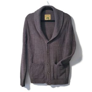 O'Hanlon Mills Dark Grey Cardigan with Pockets